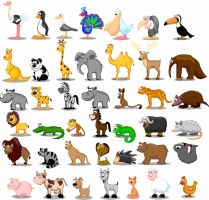 Animales cartoon EPS by GianFerdinand