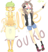 Belle and Touko by Piyu