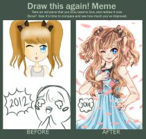 Draw this again meme!! by toufuuri