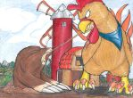 Mole and Rooster by cupil