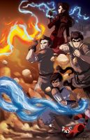 The Legend of Korra Team Avatar by Tsubasa-No-Kami