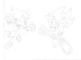 Training Day: Me vs Shadow (sketch) by AdrienWagner