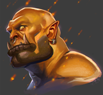garrosh by raspbearyart