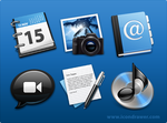 Black and Blue Icons by Buzuk-Eugen