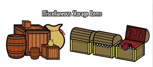 Walfas Storage Items (Prop Package) by Feraligono