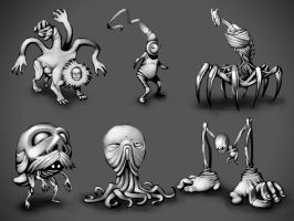 Creature Concepts by LaNiMaL