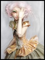 Mielikki - gold and green flower by Lelahel-Clothes