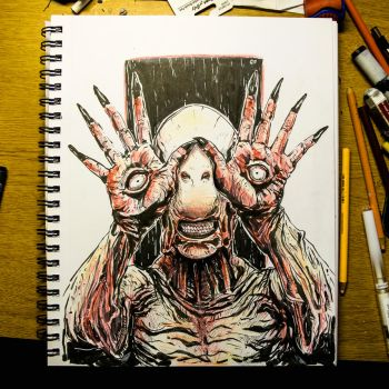 Inktober 2016 Day 25-The Pale Man by Dr-Carrot