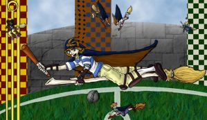 Quidditch Trials 3 by Almosee by Hogwarts-Castle