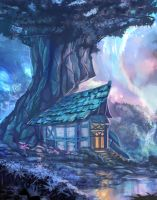 fantasy house by Nneila
