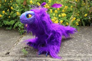 Purple Raptor Dragon Art Doll for sale by Creature-Cave