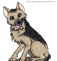 German Sheperd by LightOrangeFur