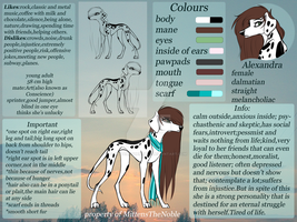 Alexandra reference sheet 2015 by MittensTheNoble