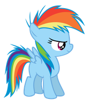 Rainbow Dash Filly by Serenawyr