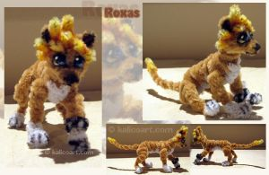 Roxas Lion -- Pipe Cleaners by kalicothekat