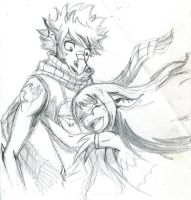 Natsu and Wendy_sketch by Di-Phoenix