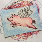 ACEO - Flying Pig by strryeyedreamr27