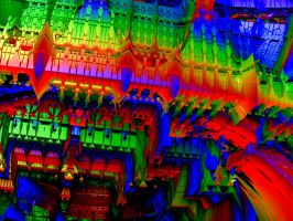 Ceiling of the Rainbow Hall by stebev