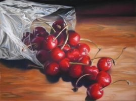 Cherries in bag by cravia