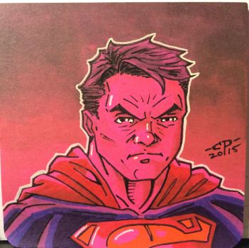 Superman post-it sketch by ChawliePawpit