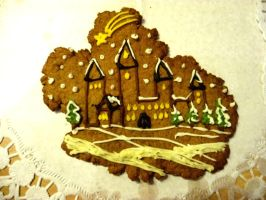 Gingerbread castle by The-Black-Panther