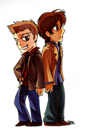 Winchester Bros by CatusSnake