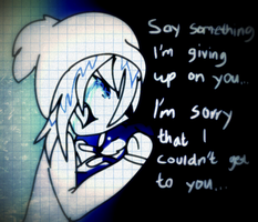 Say something... by WaffIo