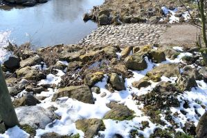rocks and snow 1 by d0gma