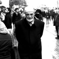 Old man in the street by TanBekdemir