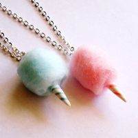 Carnival Cotton Candy Necklace by FatallyFeminine