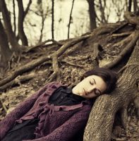 Miroslava in the forest by psychiatrique