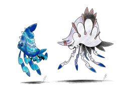 Fakemon Request: Lunottle and Illumar by LorenzoLivrieri
