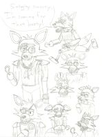 Foxy Sketches by CharlesBulbmin