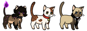 Chibi cats Adoptables 04 CLOSED by Roneri