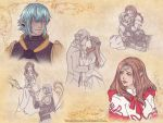 SketchPage: Haurchefant and Tiff by TsuchiKuroi