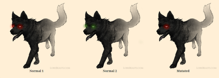 Black Shuck for LoreBeasts.com by LyndseyLittle