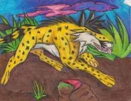 Jump of the cheetah by goldenEden