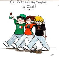 St. Patrick's Day is for Everyone! by DwDrawings