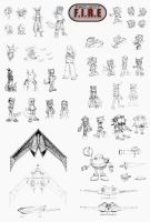 Project F.I.R.E Sketch Dump by tazsaints