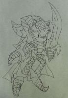 Excalibur Shadow/ Lancelot lineart by shadowhatesomochao