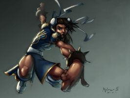 Chun Li Speedpaint by AdamMasterman