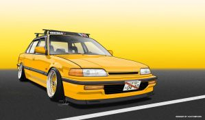 Vexel civic EF sedan by ARTriviant