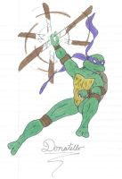 Donnie Attacking by Ranica by tmntart