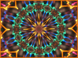 Xmas Lights Kaleidoscope by Fleur555