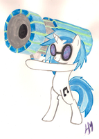 Vinyl and Bass cannon by Salriella