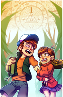 Gravity Falls Print by Krooked-Glasses