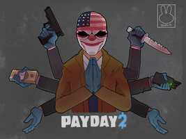 Payday 2 - Team Work [BUY AS T-SHIRT] by blue-pizza123