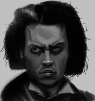 Sweeney Todd portrait by apcMurray