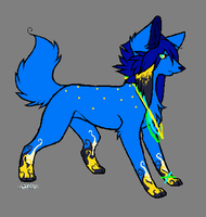 custom scene wolf for BHSbluehairedsaiyan by darkstripekitty