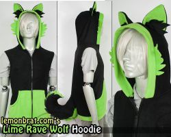 Lime Rave Wolf by lemonbrat